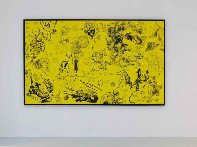 Chemistry of Life (yellow, black), 2016 by Joseph Klibansky