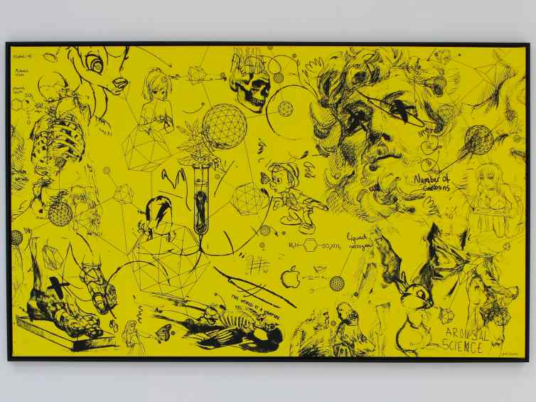 Chemistry of Life (yellow, black), 2016 by Joseph Klibansky