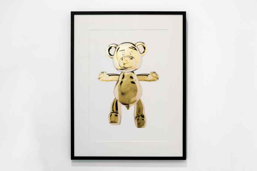 Bare Hug (edition, gold leaf), 2018 by Joseph Klibansky