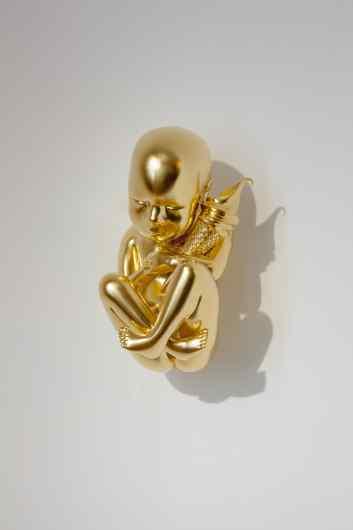 Gold Universe (stereolythography, gold leaf), 2015 by Joseph Klibansky