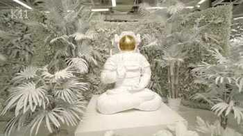 Space man buddha sculpture - K11 Guangzhou China - Dreams of Eden Exhibition - Teaser Video