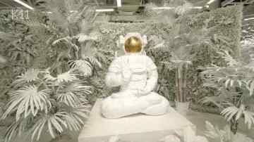 Space man buddha sculpture - K11 Guangzhou China - Dreams of Eden Exhibition - Teaser Video