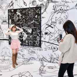 """My """"Thought painting"""" room in china 🇨🇳 was one on the most things exhibition spaces we created.. I would definitely want to do this again and invite you all to come and take some cool pictures! 📸 ..#artexhibition #artspace #contemporaryart #josephklibansky"""