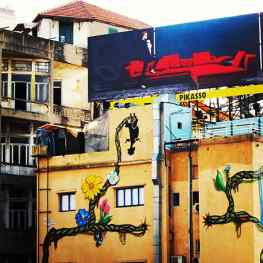 This is why I love Beirut, the contrast between old and new culture creates new beauty#art #beirut