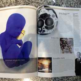 """Blue Dreams"" featured full page in Luxury magazine #art #artwork #sculpture #baby"