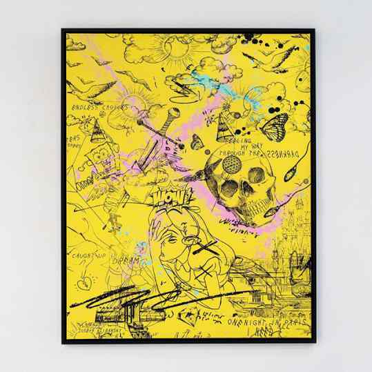 Would you choose a yellow painting for your house? . . . #contemporaryart #newpainting #artbasel #kunst #artcontemporain #josephklibansky