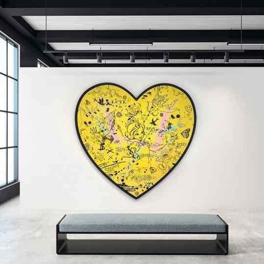 Would you hang a yellow painting in your home? . . #art #newpainting #contemporaryart