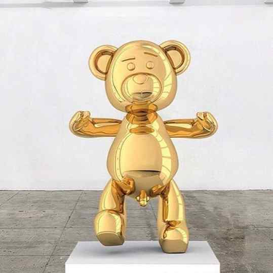 So of this bronze sculpture didn't have a title yet... what should we have called it?? 🐻 🐻 🐻