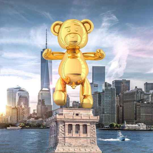 """After many long and serious talks.. the United States  government and team #josephklibansky have decided to replace the Statue of Liberty  with """"Bare Hug""""  God Bless #newyork"""