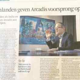 Goodmorning! #klibansky #art in the #dutch #financialtimes. I have great memories of the 7 large artworks I created for ARCADIS. #FD #josephklibansky