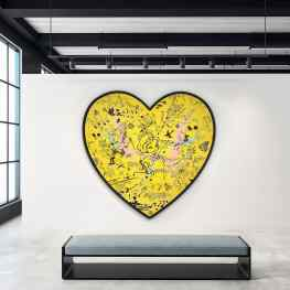 Would you hang a yellow painting in your home?..#art #newpainting #contemporaryart