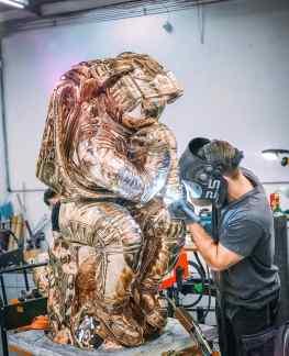 1000 hours of work to make this sculpture ..#art #sculpture #contemporaryart