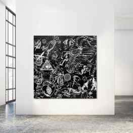 Who loves the black paintings?