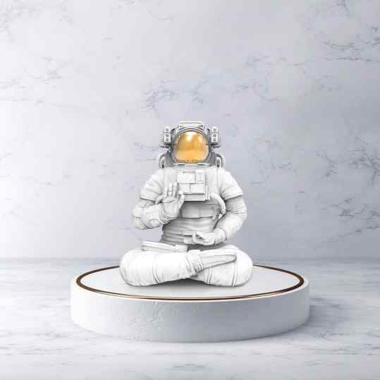 I am actually still in search of a title for this beauty.. any suggestions? . . #contemporaryart #art #artist #astronaut