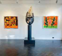 Keith Haring X Joseph Klibansky 🙌🏻The tale of the 500 pound gorilla.#keithharing #contemporaryart #josephklibansky #kunst