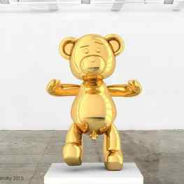 """Bare Hug"" one of my new #sculptures in #progress !  The question is… Is a bear with a #pipi still  #innocent ?  #homage #koons jeffkoons#contemporary #art #hongkong #nyc #londen #paris #dubai #monaco #Klibansky #josephklibansky #artworld #love #beautiful #follow #fashion"