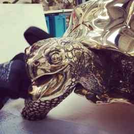 -Baby we Made it- polished bronze 125kg per turtle 😁#josephklibansky #art #contemporaryart #contemporary #london #newyork #amsterdam