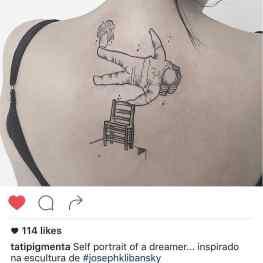 (Repost) Wow, i'm speechless! 🙌🏻. The ultimate #klibansky fan? #tattoo #space