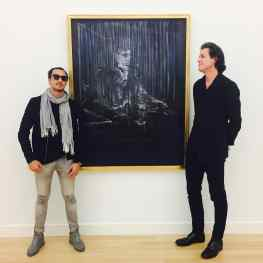😈Embrace the Darkness😈Good meeting for my upcoming museum show @fundatiezwolle  with director Ralph Keuning and the most amazing #francisbacon #painting #museum #josephklibansky