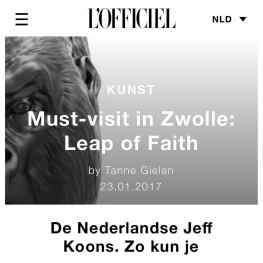 """Thank you @lofficielnl making my """"Leap of Faith"""" museum show a cultural """"must visit"""" 🙌🏻✨ and calling me the dutch #jeffkoons 🤓 thanks @jeffkoons you are a Artworld legendLink in bio:#josephklibansky #lofficiel #lofficielhommes"""