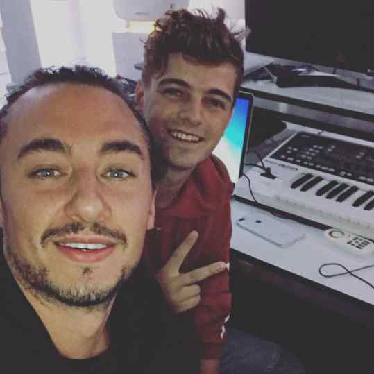 Late night studio sessions with my bro @martingarrix ❤️ #josephklibansky #amsterdam #martingarrix