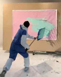 Splashhh 🖼 ..#artvideo #contemporarypainting #josephklibansky #kunst