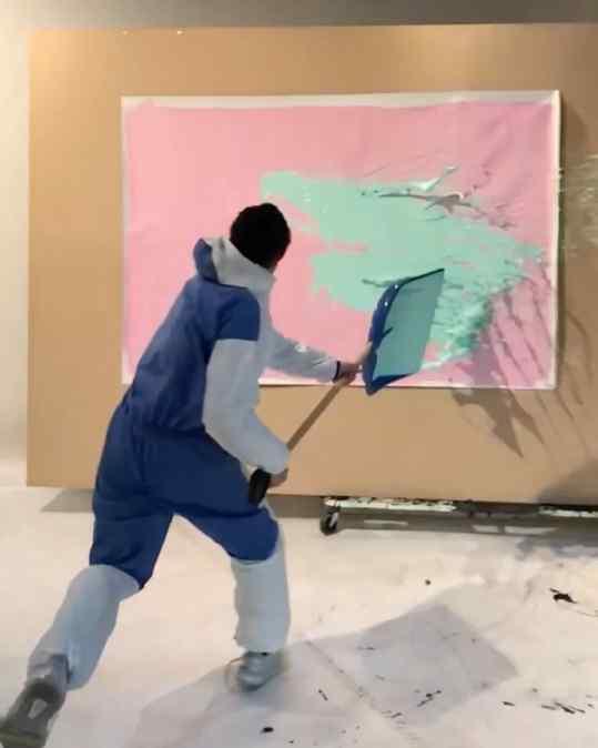 Splashhh 🖼 . . #artvideo #contemporarypainting #josephklibansky #kunst