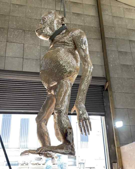 """I just wanted to update you on the large bronze sculpture we are working on! This """"Birthday Suit"""" will be approximately 3.5 meter tall (11.5 foot)  how much do you think it weighs? . . #bronzesculpture #monumentalsculpture #art #contemporaryart #josephklibansky"""