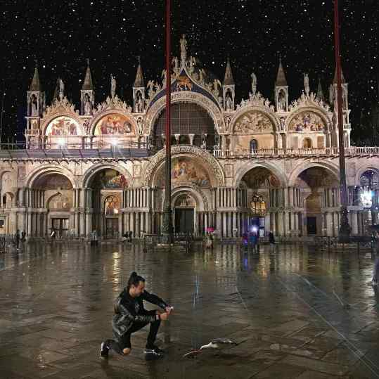 Venice!🍕 . #veniceitaly #venice #pizza #seagull