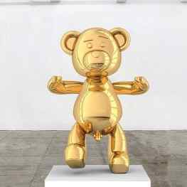 So of this bronze sculpture didn't have a title yet… what should we have called it?? 🐻 🐻 🐻