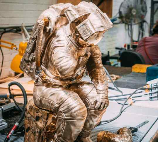"""The Thinker"" made entirely out of bronze.. what do you think guys? . #sculpture #contemporaryart"