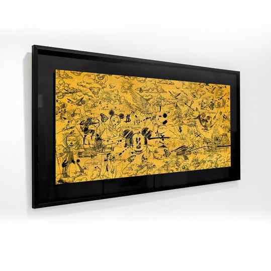 New Limited Edition release! 🔥 Gold reflectieve painting in a beautiful black frame.. let me know if you like it!❤️ (for interest use the swipe up in my stories or the link in bio)