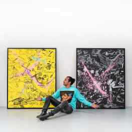 If you had to choose between the Black or Yellow painting…?.#painting #contemporaryart #artmiami