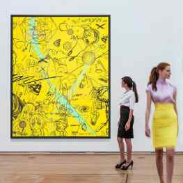 Who likes yellow paintings….#friezelondon #frieze