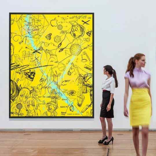 Who likes yellow paintings... . #friezelondon #frieze