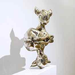 """My bronze sculpture """"Reflections of Youth"""" has a beautiful home in the permanent collection of museum de fundatie.. I would love to make a large monumental version of this piece for a public space 💜 🦌 or maybe a miniature version for on your coffee table..?. #sculpture #contemporaryart #artist"""