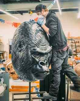 The 300 pound gorilla in the room is nearly ready for Mykonos…#mykonos #gorilla #contemporaryart #artworld #josephklibansky