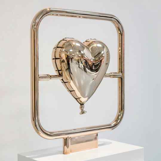 """How cool would a large version of this """"Elements of Love"""" be? 💜 Standing in a beautiful water pond so you can see the reflections. I just need to find the right pond.. any ideas? . . #contemporaryart #love #sculpture #art #kunst #artcontemporain"""