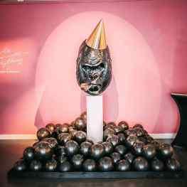 What other animals would fit my party hat series?...#contemporaryart #gorilla #art #josephklibansky #sculpture #paintings #modernart