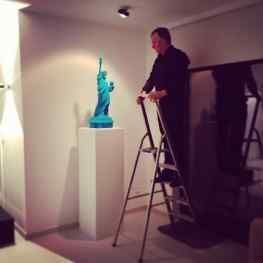 "The instalation of ""Velvet Revolution"" at its new location #contemporaryart #penthouse"
