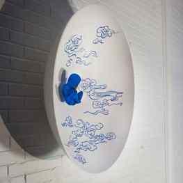 """""""Dream Clouds"""" finally hanging #art #sculpture"""