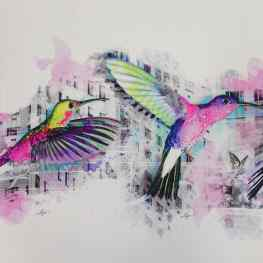 Study of High Flyers in the making! #love #freedom #klibansky #art